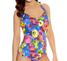 Freya Floral Pop AS3170 W Underwired, Halter Tankini Top - $41.19