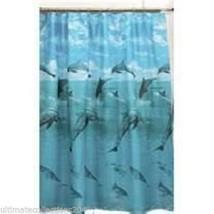 Dolphin Dolphins Sea Beach Summer Themed Fabric Shower Curtain Ocean Bat... - $12.11