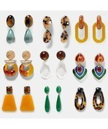 Fashion Acrylic Resin Drop Earring Wedding Jewelry Boho Elegant Shiny Da... - £5.07 GBP