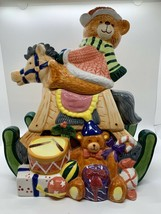 San Francisco Music Box Company Toyland Cookie Jar Rocking Horse Bear Mu... - $47.52