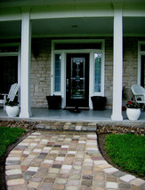 "Concrete Molds (12) 8""x8""x1.5"" Make 100s of Cobblestones For Patio, Walks Walls image 2"