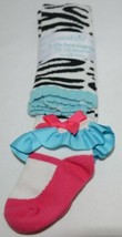 Mudpie Ruffle Socks Leggings Zebra Stripes 12 to 18 months image 1