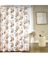 Nanette Lepore Adriatic Shells Fabric Shower Curtain Set with 12 Roller ... - $39.48
