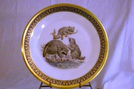 "Lenox Annual 1973 Woodland Life Raccoons Collector Plate 10 3/4"" - $13.85"