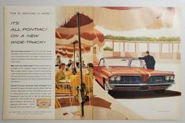 1960 Print Ad 1961 Pontiac Bonneville Vista Wide-Track with Trophy V-8 Engine - $16.81