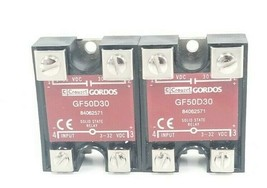 LOT OF 2 NEW CROUZET GORDOS GF50D30 SOLID STATE RELAY 3-32 VDC IN 1-50 VDC 30 A