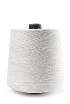 100% Linen lace yarn white color, 400g cone, 3-ply flax yarn - $20.00