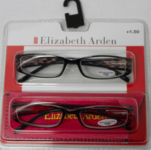 Elizabeth Arden Readers Two Pack Rectangle Black Brown, Black Red Plasti... - $17.99