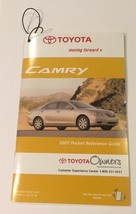 2007  Toyota  Camry  Owners pocker reference guide  + disc  NEW - $7.91
