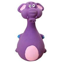 Elephant Purple Dog Toys Latex Chew Squeaker Squeaky Sound Playing Toys Pet - $8.90