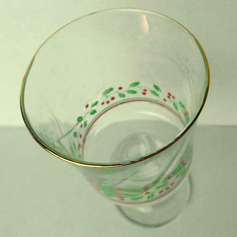 Arbys Arby's Christmas Collection 1985 Glass Holiday Stemware   Vintage image 3