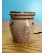 SCENTSY Quill Brown Feather Mid Size Warmer Retired Discontinued - $20.79