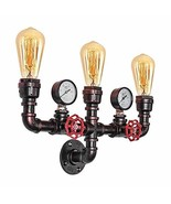 OYI Antique Wall Sconces, 3 Lights Rustic Wall Light Fixture Retro Water... - $56.99