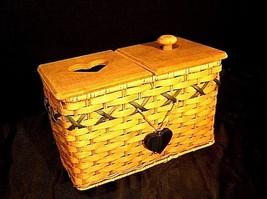 Tender Heart Treasures Woven Handmade Basket AA18-1359 Vintage 1995 image 2
