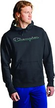 Champion Powerblend Green / White Script Graphic Black Hoodie Adult Large - $44.54