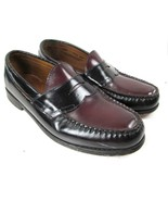 G.H. Bass & CO Weejuns Penny Loafers Two Tone Black Burgundy Mens Size 8... - $31.04
