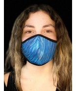 Anatomical Shape Half Face Mask Cover Blue Artistic Confortable Easy Bre... - $7.95