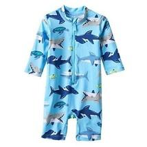 Carter's Rash Guard Shark Swim Shirt Long Sleeve Full Body Suit Size 4T - $15.83