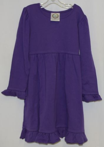 Blanks Boutique Long Sleeve Empire Waist Purple Ruffle Dress Size 5T
