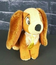 """Disney Store Lady and the Tramp Plush Dog 6"""" Cocker Spaniel Just Play St... - $13.85"""