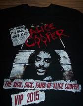 Alice Cooper 2015 Tour Vip T-Shirt Large New - $19.80