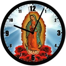 "Guadalupe, EXCLUSIVE! 8"" Homemade Wall Clock, Black, Free Shipping! - $23.97"