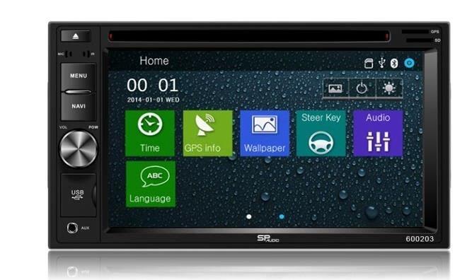 DVD GPS Navigation Multimedia Radio and Dash Kit for Honda Ridgeline 2006