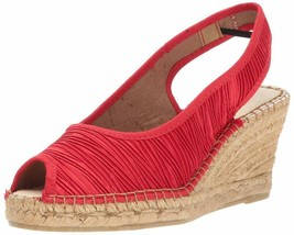 Azura By Spring Step Women'S Jeanette Espadrille Wedge Sandal, Red, 39 Eu/8.5 M  - $147.72