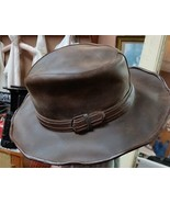 Vintage leather Scruffy Cowboy Hat - $75.00