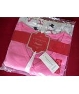 Charter Club Womens Flannel Pajama Set MEDIUM Snowman w/ Pink Top Sleepw... - $24.70