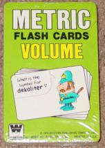 Flash METRIC Flash Cards VOLUME by Whitman WESTERN PUBLISHING Vintage 19... - $5.00