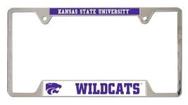 Kansas State Wildcats Heavy Duty Chrome Metal License Plate Frame - $13.95