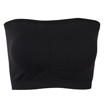 SECOND COLOR Basic Strapless Padded Bra, Seamless Solid Color Bandeau Br... - $11.21