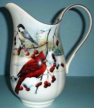 "Lenox Winter Greetings Scenic Large Pitcher Winter Birds 10"" H Made in U... - $194.90"