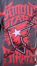 Famous Stars & Straps Charcoal Heather Red War Stories Youth Kids Boys T-Shirt image 2
