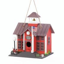 #10018076  *SCHOOLHOUSE RED WOOD BIRDHOUSE* - $23.34
