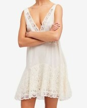 Free People NEW White Ivory Womens Lace-Trim Skater Dress XS - $44.55