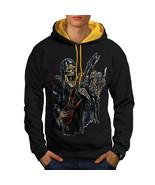 Guitar Metal Badass Skull Sweatshirt Hoody Skull Show Men Contrast Hoodie - $23.99+