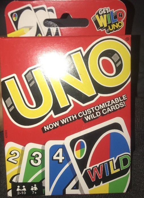Classic UNO Card Game With Customizable Wild Cards! Made in the USA!