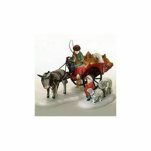 Primary image for Dept 56 Dickens Snow Village  Bringing Fleeces to the Mill Set of 2 58190