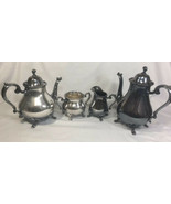 Vintage Wilcox Joanne International Silver Plate Coffee and Tea Set 4 Pi... - $131.57