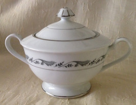 Style House Fine China Sugar Bowl W/Lid Regal Pattern White - $12.99