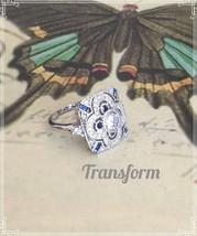 3.3ct White Topaz & Sapphire 925 Silver Ring - $21.99