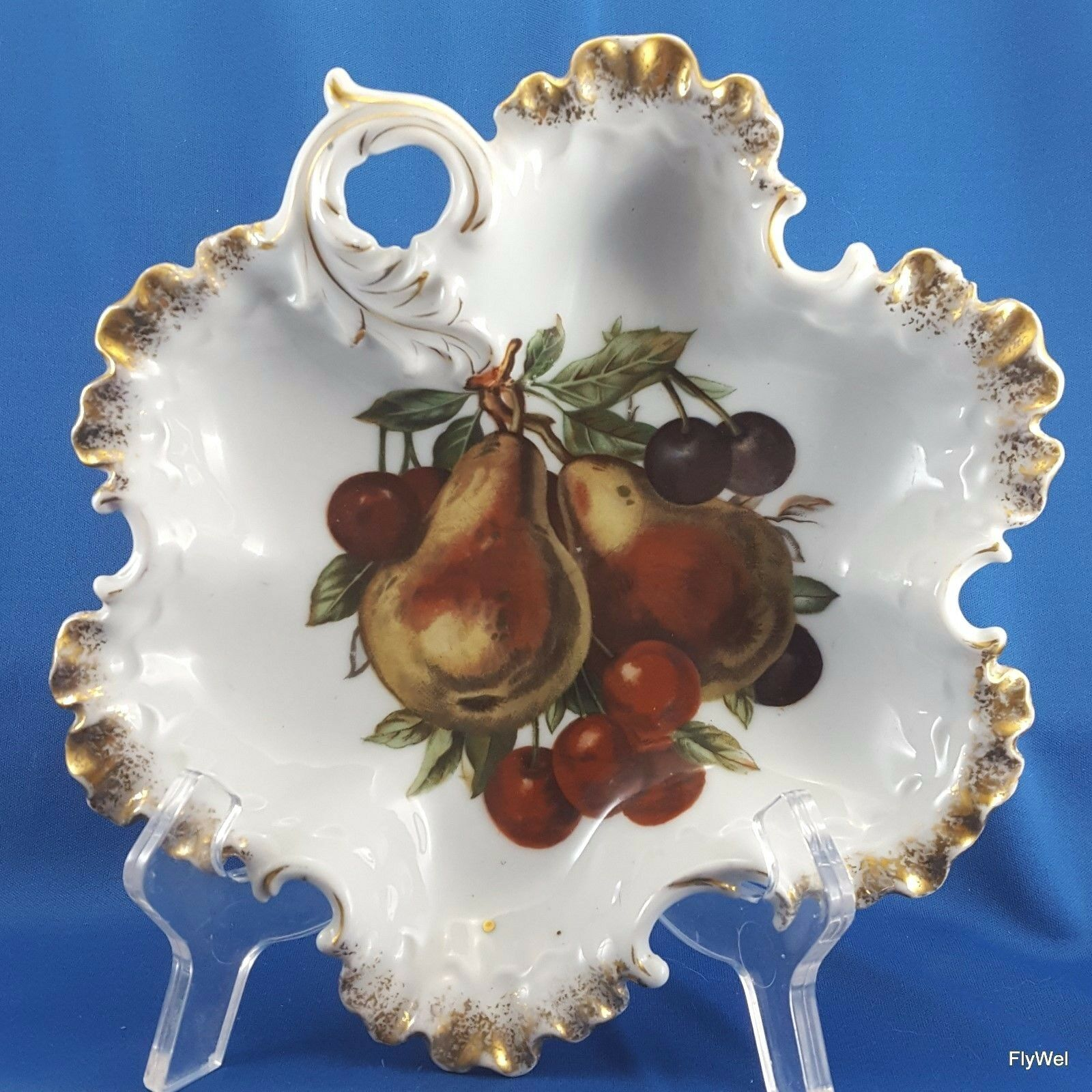 Primary image for Rosenthal Monbijou Leaf Shaped Bowl with Mitterteich Orchard Decoration 8.5""