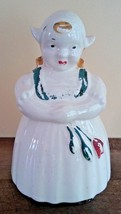 American Bisque Pottery Dutch Girl Hand Painted Ceramic Cookie Jar 1940-50s - $39.97