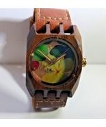 Mistura Wood Watch, Flowers, Worn Once! - $123.16