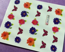 Bang Store Nail Art Water Decals Flowers & Butterflies Cute And Funny - $2.11