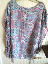 # Bcbg. Maxazria Size M Ladies Light Weight Top Blouse Multi Color Nwt - $12.99