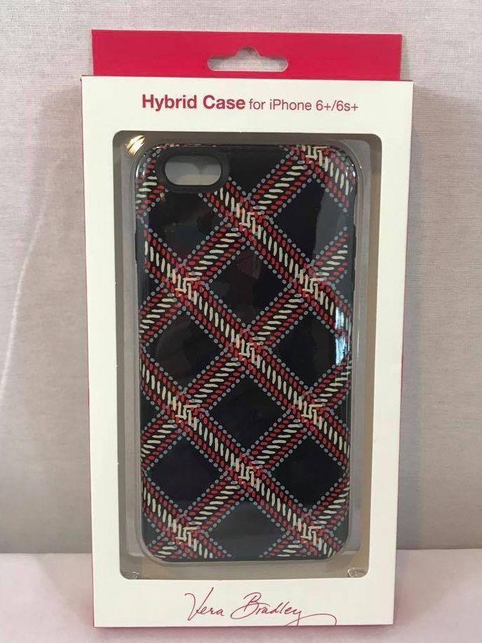 NIB Vera Bradley Hybrid Hardshell Case for iPHONE 6+/ 6S+ Minsk Plaid
