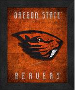 "Oregon State Beavers ""Retro College Logo Map"" 13x16 Framed Print  - $39.95"
